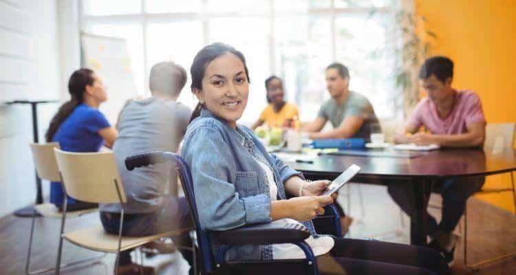handicap femme travail